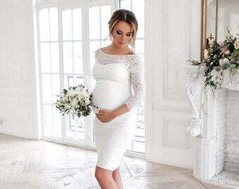 Maternity wedding dress etsy maternity wedding dressbaby shower dresswedding dress maternity dress for photoshoot junglespirit Image collections