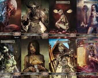 Full Set of Zombie Tokens MTG