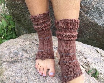 Yoga Socks Hand Knit Pilates Socks brown Socks Dance Socks Slipper Socks Women Socks  Colorful Hipster Socks Yoga active wear