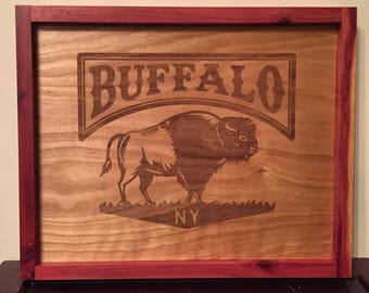 Introductory pricing! Buffalo NY wood framed wall art.