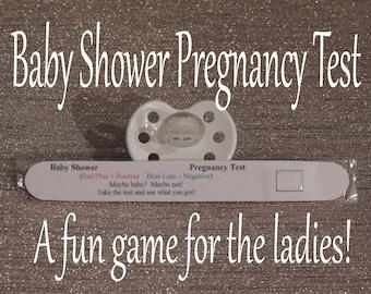 Baby Shower Games / Pregnancy Test / Boy Baby Shower / Girl Baby Shower /  Fun