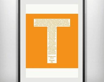 Trainspotting choose life minimal minimalist movie film print poster