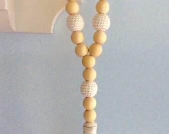 White farmhouse bottle beads