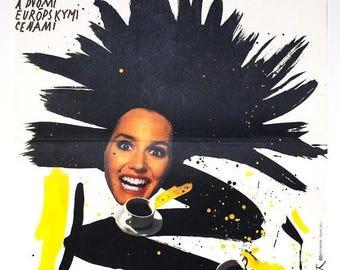 50% POSTER SALE Vintage movie poster - Women on the Verge of a Nervous Breakdown by Pedro Almodovar, Poster design Jan Weber, 1988
