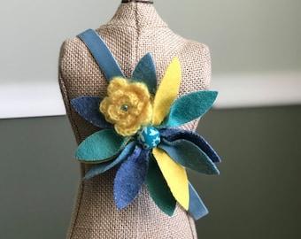 Yellow & Teal Toddler Headband