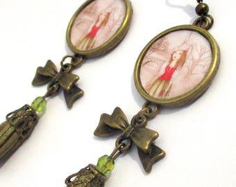 illustrated donkey skin earrings