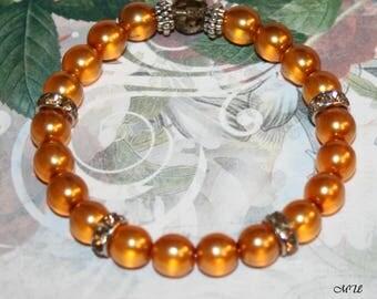Pearl-Bracelet-topaz or lilac