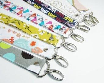 Keychain - Lanyards - Wristlet - Key Fob - Personalized Gift - Key Fob Wristlet - Wristlet for Wallet - Lanyard for Badge Holder