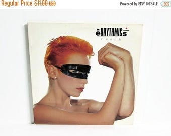 Christmas in July Sale Eurythmics Touch LP, Vinyl Record Album, RCA Records, Annie Lennox, Dave Stewart, British Duo Group, 1980's Pop Music