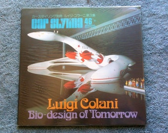 Car Styling 46 Special Edition Luigi Colani Bio Design of Tommow Part 3 English Text Japanese Text 1984 Osami Suzuki Ribbed Plastic Cover