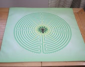 Altar Cloth or Tarot Cloth - Arboreal Labyrinth  - Pagan or Wicca - Designed by Wendy Wilson of Magic in Your Living Room