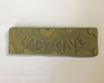 Lady cave - sign plaque mould