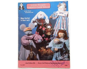 Tomato Cage Dolls Pattern Booklet - 3 Foot Tall Dolls