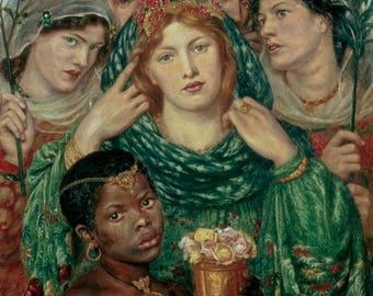 DANTE GABRIEL ROSSETTI - 'The Beloved' - original archival quality print - large (Curwen Press, London. Pre-Raphaelite art)