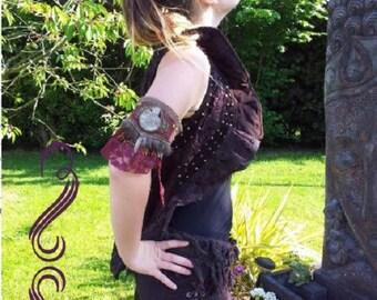Jacket pirate studded lace lace