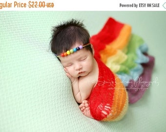 SALE Rainbow Mohair Wrap, Newborn Photo Prop, Newborn Wrap, Mohair Wrap, Rainbow Prop, Rainbow Baby