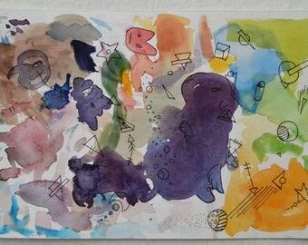 Abstract Watercolor Painting No. 1