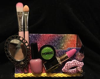 Makeup Artist,Obsessed with makeup business card holder
