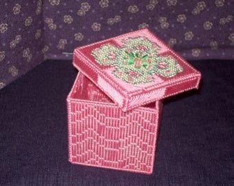 Beaded Rose Jewelry Box