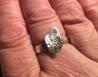 Sterling Silver Rough Edge Ring