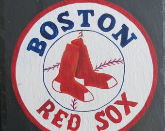 RED SOX SLATE, Hand Painted