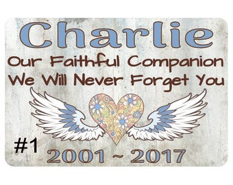 Color Photo Custom Memorial Plaque | 2 in x 3 in Aluminum Plaque for an existing URN or Wooden Box