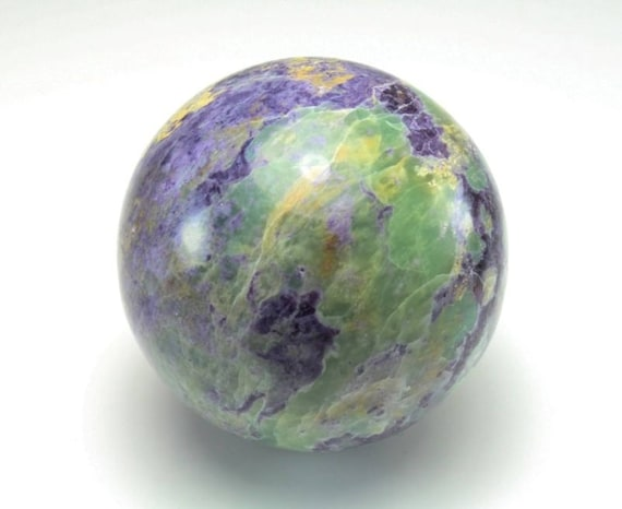 Fluorite and Serpentine Sphere, Bolivian, M-1398
