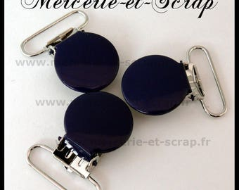 1 round tie clip blue 25mm midnight dark