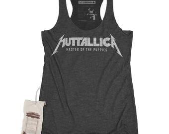 Womens Metallica Shirt - Womens Heavy Metal Shirt - Metallica / Muttallica Dog Parody