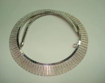 Cleopatra Style Sterling Silver Choker Necklace