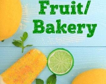 Fruit/Bakery Bath & Body Items