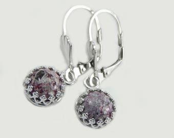 Bixbite in Rhyolite Earrings; Petite Bixbite Dangle Earrings; Bixbite Earrings; Dangle Earrings