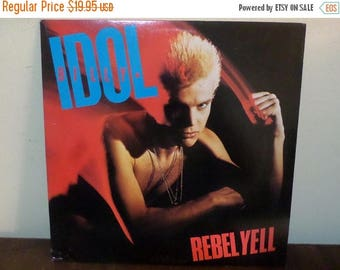 Save 30% Today Vintage 1983 LP Record Billy Idol Rebel Yell Chrysalis Records Near Mint Condition 13558