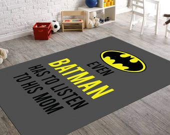 Batman Rug, Batman Room Decor, Childrens Rugs, Batman Nursery, Yellow And  Grey
