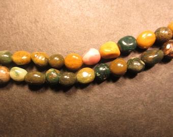 gemstone ocean jasper nugget beads