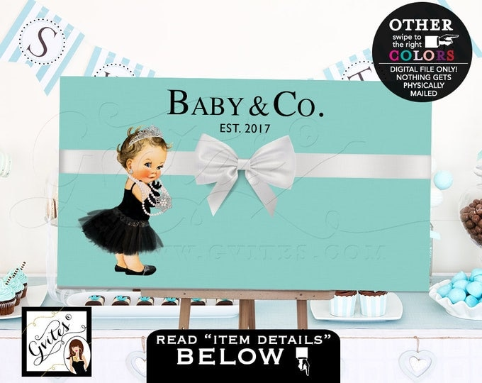 "Baby and Co Backdrops For Dessert Table, Decorations, baby and co baby shower, poster signs for Avail Size(s): 36x20"", 48x30"" & 72x48"""