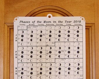2018 Moon Phase Calendar