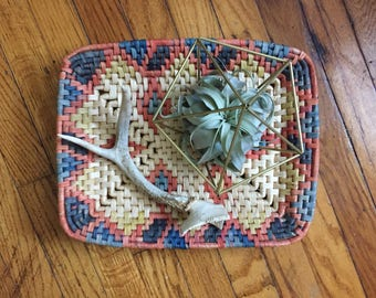 Colorful Woven Tray