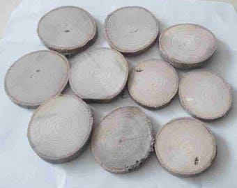 9 cabochons oval natural Driftwood
