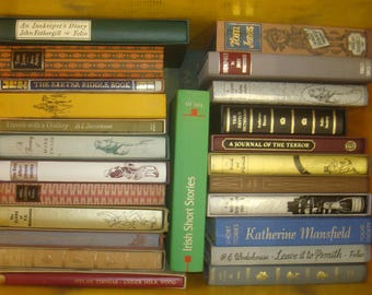 Set of 24 Fiction Folio Society Books.  13 with slipcases