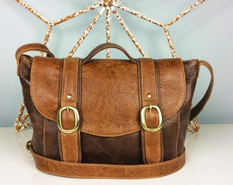 Handmade Brown Leather 'Chloe' Handbag - Can be Personalized
