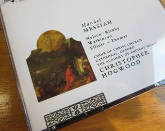 Handel's Messiah, Choir of Christ Church Cathedral Oxford,Hogwood, 2 CD's, Booklet, 136 Min., Sacred,Christian,Holy,Religious Music,Concerts