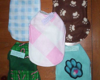 Pet Jacket .. CLEARANCE .. Size X-SMALL! Reversible Fleece! .. Dog or Cat ***** Keep Em' Warm!  .. And CUTE Too!!