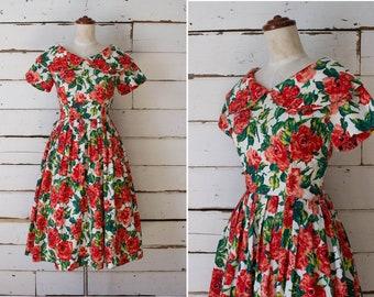 rosita dress  //  vintage 1960s floral cotton dress