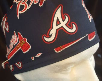 Atlanta Braves MLB Baseball Tie Back Surgical Scrub Hat