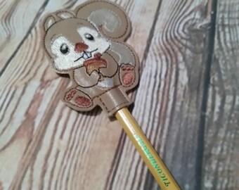 Squirrel - Woodland Creatures -  Feltie Pencil Toppers Design - DIGITAL Embroidery DESIGN