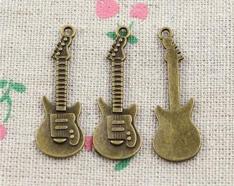Rock Guitar 2 X antique bronze 32mm