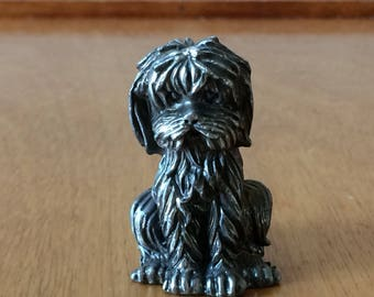 Metal Dog Paperweight - Small Dog Breed - Bolognese Puppy
