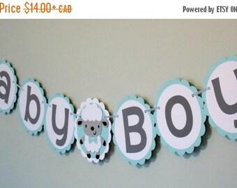 Baby Boy Sheep Banner/ Sheep Banner/ Baby Boy Banner/ Lamb Birthday Banner/ Baby Shower Banner/ Baby Sheep Banner/ Lamb party/sheep birthda