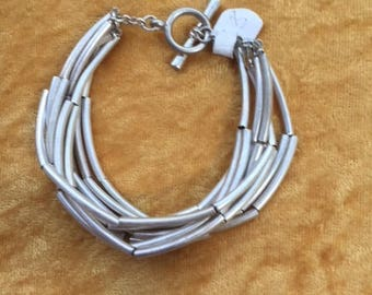 Hand made silver and gold plated bracelets